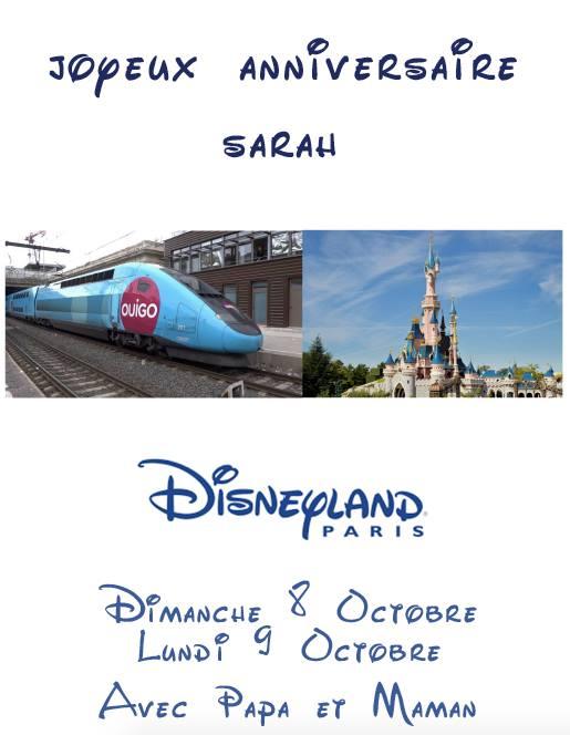 Annonce du s jour disneyland paris pour liloute for Sejour complet disneyland paris