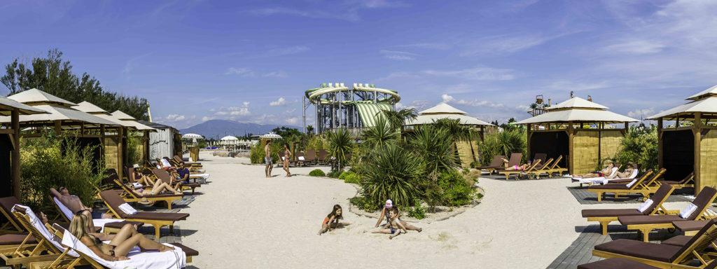 paillotes VIP Wave Island
